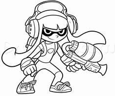 Splatoon Inkling Coloring Pages To Print Print Coloring Pages