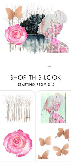 """""""She's the year in my heart"""" by miz-watermelon on Polyvore featuring Fox and Oliver Gal Artist Co."""