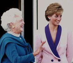 Pin for Later: The Royal Family's Travel Album United States Former First Lady Barbara Bush discussed the AIDS epidemic with Princess Diana in Washington DC during Diana's 1990 visit to the States.