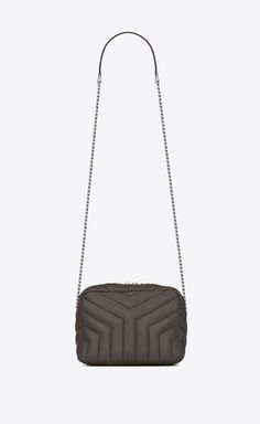 a5e27a2c9dec SAINT LAURENT Monogramme Loulou Woman small loulou bowling bag in grey