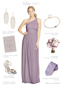 Lilac Gray Bridesmaid Dresses. This pretty mix of pale purple and light gray leaves us with lilac gray, a beautiful color for bridesmaid dresses and one of Pantone's 2016 color picks!