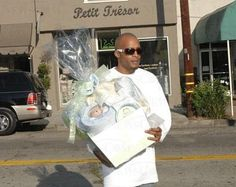 Xtina, as she is known online, had Beverly Hills store Petit Tresor send a $500 gift basket to baby Sutton Pierce.