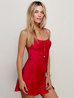 Intimately  Foxy Silk Slip at Free People Clothing Boutique.... This slip in eggplant