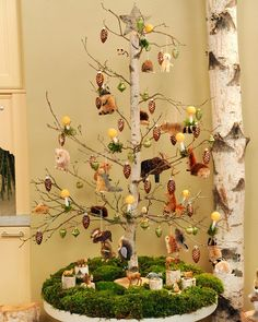 Fun and frugal holiday decoration. I think you could also modify this for other holidays (hang candy for V-day, eggs, for Easter, etc.).