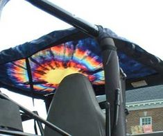 All Things Jeep - Jeep Half Top: Transluscent Tie Dye Top by XSkinz