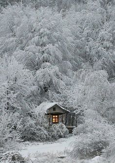 Cabin Surrounded By Winter by oldrose