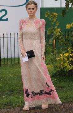 Forget rainbow lace, let's do some nice color combos! ....................................... ........... .... ....................................Laura Bailey in Valentino