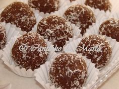 Docinhos de Chocolate e Coco