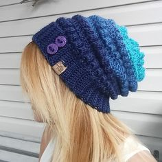 This pattern is super easy to and quick. The bobble stitch gives this hat a fun texture. This pattern is written for a toddler/child age roughly 1 to 6 years and teen/adult ladies. You will require 1 skein of Caron Simply soft for either size. If you wish to make yours in an ombre color then I switched colors the row after the 2nd row of bobble stitches.