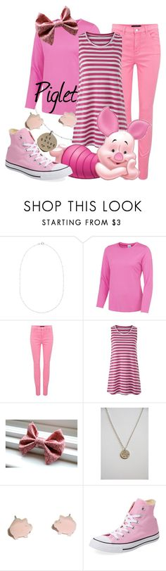 """Piglet (A Disney-Inspired Outfit)"" by one-little-spark ❤ liked on Polyvore featuring Martick, J Brand, Converse, disney and disneybound"