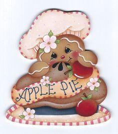Pan de jengibre pintura pastel de por GingerbreadCuties en Etsy