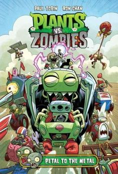 """Ryan at Kennedy Public School just read Plants vs. Zombies: Petal to the Metal by Paul Tobin: """"This is a funny book with race cars and the zombies are racing plants. If you want to know who wins... read the book."""" *****"""