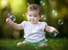 Bubble Girl by Mike DeMicco - Babies & Children Child Portraits ( girl, bubbles, baby, pretty, portrait )