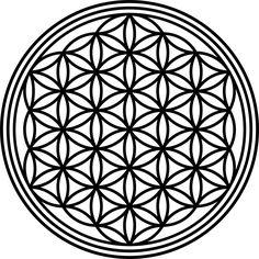 Wandtattoo Aufkleber Blume DES Lebens Mandala Heilige Geometrie Feng Shui | eBay