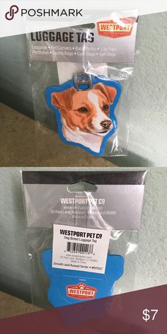 🆕LISTING- Smooth Jack Russel Terrier Luggage Tag Direct from vendor. New in package. Vendor is sold out so this is the LAST ONE!! ⚠️PRICE FIRM UNLESS BUNDLED⚠️ Accessories
