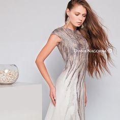 wonderful felt dress - Official website of Diana Nagorna