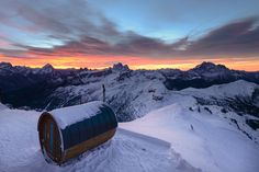 Our sauna at dawn by Guido Pompanin on 500px