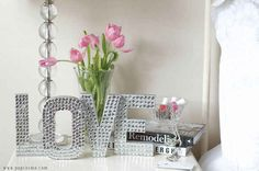 Cardboard Letter Sequin Sayings