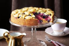 This shortcake pie is full of surprises - dig through a golden crust to apples and blueberries, oven-warmed and oozing sweet juice.