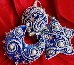 Beautiful embroidered Christmas Ornaments | Beads Magic                                                                                                                                                                                 More