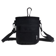 COSMOS Pet Snack Bag Pet Training Waist Bag Dog Training Food Pet Treat Bag Pouch with Shoulder Strap and Carabiner (Black Color, 4.5 inches Wide x 5.75 inches Tall) ** More info could be found at the image url. (This is an affiliate link and I receive a commission for the sales)