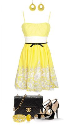"""""""Black and Yellow"""" by angela-windsor on Polyvore"""