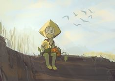 Hole by CuttleDreams on DeviantArt Adventure Time Tumblr, Lapis And Peridot, Wall Text, Mediums Of Art, Lapidot, Best Friendship, Universe Art, Recent Events, Animation Series