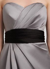 Satin wide ruched sash.  Adds the perfect amount of flair to any dress  Available in storesin the40 color palette as well as White and Ivory.   Select colors are on sale. Please click color and size to view pricing