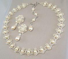 Wedding Necklace and Earring Set Backdrop от BridalDiamantes