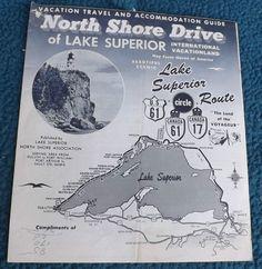 Vintage '60s North Shore Drive of Lake Superior, Michigan Travel Guide | eBay