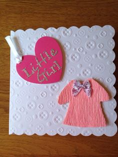 A personal favourite from my Etsy shop https://www.etsy.com/listing/232207887/little-girl-button-embossed-baby-card