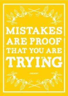 Yes but only if you learn from them- repeating same mistakes isn't trying