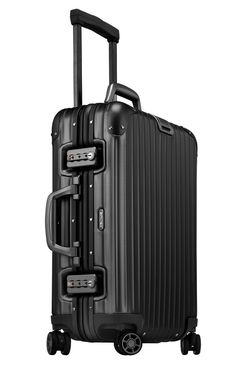 Rimowa Topas Stealth Cabin Multiwheel. Drool central. Carry On Suitcase, Carry On Luggage, Travel Luggage, Luggage Bags, Travel Bags, Le Manoosh, Rimowa Luggage, Top Luxury Cars, Travel Items