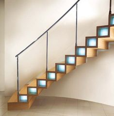 modern wooden stairs by Marretti