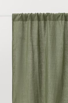 Use our comfy bed linen, classic curtains and decorations to create a space for relaxing, recuperation and sweet dreams – shop everything for the bedroom! Green Curtains, Panel Curtains, Curtain Panels, Scandinavian Curtains, Linen Fabric, Linen Curtain, Curtain Fabric, Classic Curtains, Layered Curtains