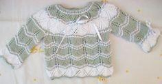 JERSEY DE LANA GRIS PERLA Y BLANCO PRIMERA POSTURA Material Lana especial bebé gris perla Lana especial bebé blanco Agujas de p...