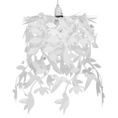 Buy Hummingbird Ceiling Pendant Light Shade in White from our Pendants range - Tesco.com
