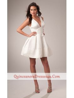 Carrie Underwood Inspired White Party Dress PL-1068::: I'll try this as a DIY