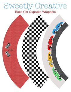 awesome! Race Car Party Cupcake Wrappers Printable Digital File
