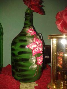 Decorando usando vidros e flores