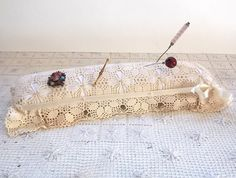 Antique Hatpin Pillow / Restored Antique Pin Cushion /