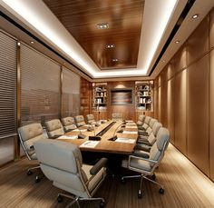 Meeting Room Design Inspiration Inspiring office meeting rooms reveal their playful designs. The room design inspiration comes from listings from their site. Corporate Office Design, Office Space Design, Modern Office Design, Corporate Interiors, Office Interiors, Corporate Offices, Startup Office, Hotel Conference Rooms, Conference Room Design