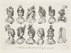 Museum of London | Ladies' Head dress of 1796