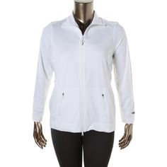 Taffy Womens Plus Moisture Wicking Athletic Jacket
