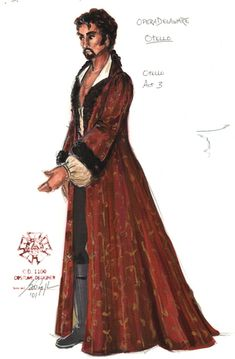 Costume design by Gregory A. Theatre Costumes, Movie Costumes, Contemporary Dance, Modern Dance, Dress Sketches, Fashion Sketches, Costume Design Sketch, Hedda Gabler, Smoking Jacket