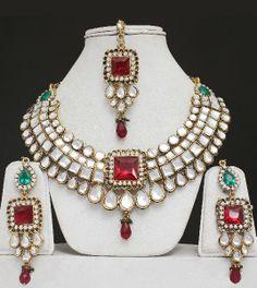 indian jewelry | wedding kundan indian jewelry set peacock jewellery indian set gold