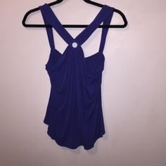 Top Cute blue top. Modal Rayon & Cotton blend.  Dry Clean. Tops