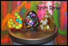 New Resin Rings with Adjustable Bands