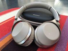 Sony MDR-1000X headphones in beige