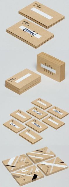 Versatile And Cost Effective Customisable Business Card Design For A Pop Up Store